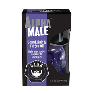 Gibs Alpha Male Beard Hair Tattoo OilBox