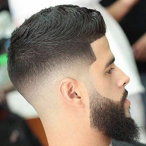 Top 5 barbe dégradé avec cheveux